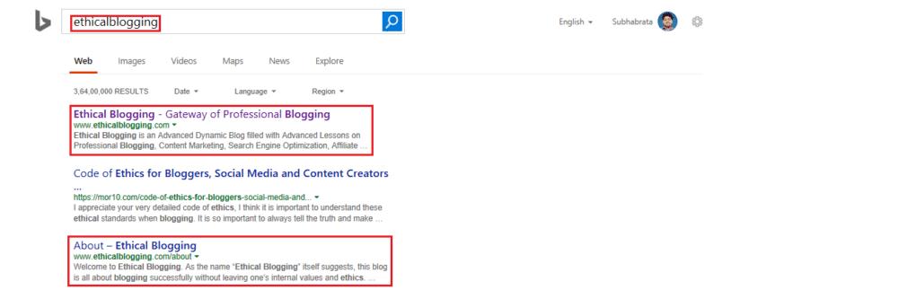 Domain Name Selection Guide Google Screenshot 3