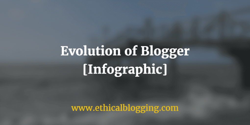 Evolution of Blogger Infographic Featured Image