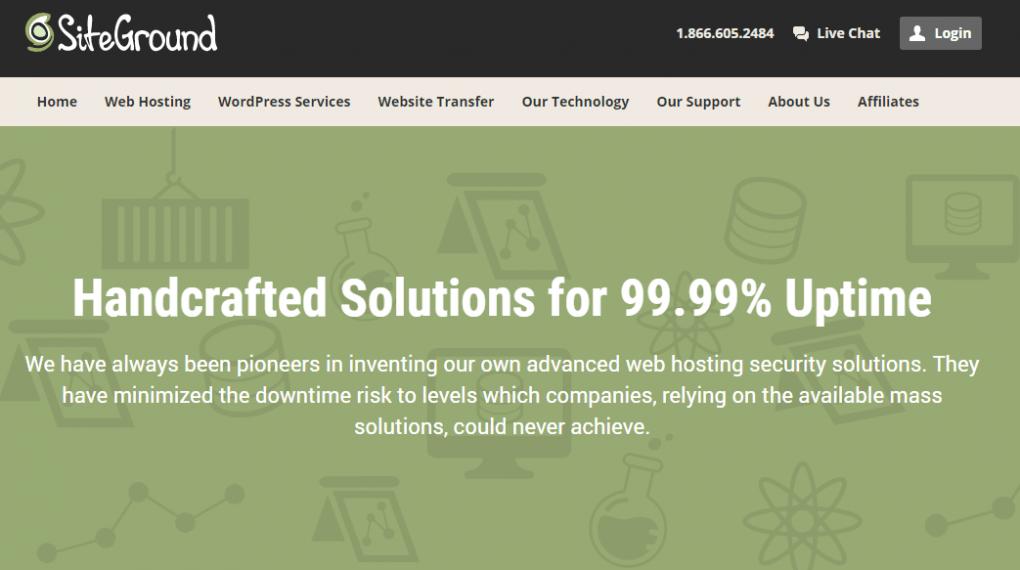 SiteGround Hosting Service Review Amazing Uptime Screenshot