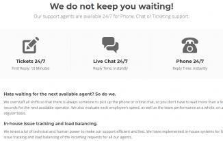 SiteGround Best Support Screenshot