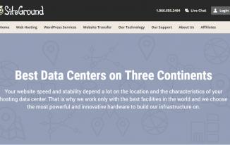 SiteGround Data Centers Screenshot