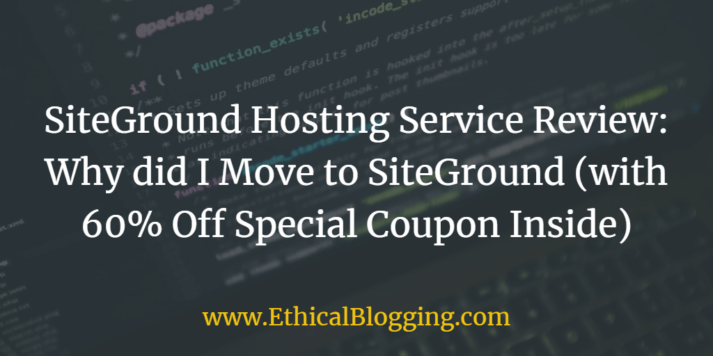 Hosting Siteground Coupon Entry