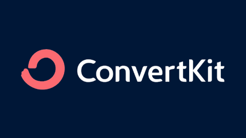 ConvertKit Logo (Dark Blue Background)