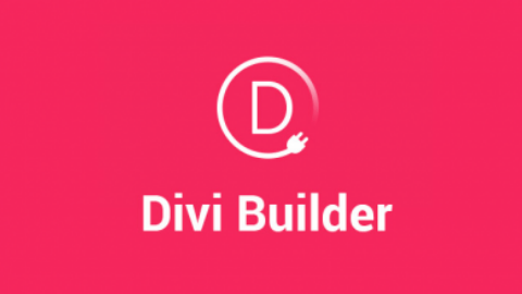 Divi Builder Logo (Dark Pink Background)
