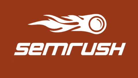 SEMrush Logo (Dark Orrange Background)