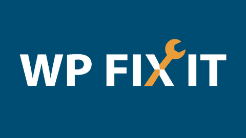 WP FIX IT Logo (Black Background)